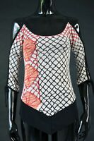 Save the Queen Mesh Blouse Shirt Top asymmetrical Size S