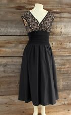 Jessica Howard Black Lace Top Dress Size 10