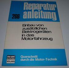Reparaturanleitung Einbau zusätzlicher Elektrogeräte Oldtimer Handbuch Bucheli!