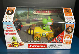 2020 Nintendo Carrera RC: Mario Kart Bumble V- Yoshi (2.4 GHz, Radio Remote Car)