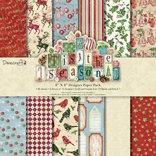 Dovecraft Christmas Tis the Season papers -Sample 12 x 8 x 8 Paper Pack