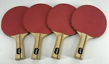 Vintage Stiga Ping Pong Table Tennis Paddles Red Black Set of 4