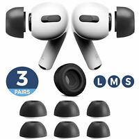 3 Pair Memory Foam Earbuds Replacement Ear Tips For AirPods Pro Earphone