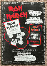 IRON MAIDEN - DONINGTON LIVE 1993 full page UK magazine ad