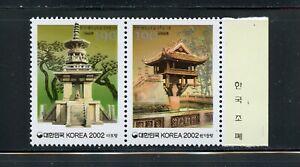A292   Korea  2002   Korea Vietnam Relations   pagodas    PAIR    MNH