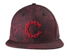 Crooks & Castles Black True Red Linear Medusa Snapback Baseball Hat Cap NWT