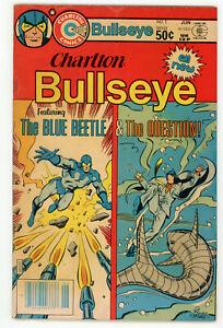 JERRY WEIST ESTATE CHARLTON BULLSEYE #1 (Charlton 1981) VG+ Blue Beetle Question