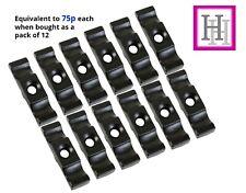 "Turn Button Black 12 x 2.5""/60mm Catch Gate Door Cage Cupboard Twist Latch D4"