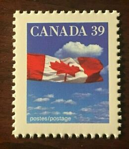 Canada #1166c, 39c Flag over Clouds, perf 12.8x13.1