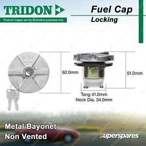 Tridon Non Vented Locking Fuel Cap for Mitsubishi Triton ME MF MG MH MJ MK