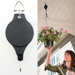 Einziehbar Blumenampel halter Wandhaken Blumentopf Haken Körbe Aufhänger Neu
