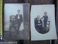 2 ANCIENNES PHOTOS enfants circa 1900