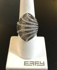 EFFY Ring Silver Diamond .60ct Size 7.5 Brand New With Tags NWT Gift
