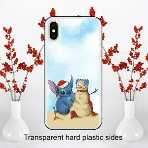 Disney Lilo and Stitch Christmas Case Cover for iPhone Samsung Huawei Google