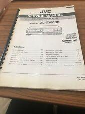 JVC XL -E 300 BK Compact Disc Player ServiceManual/schematic Diagram