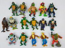 Lot 16 Vintage Teenage Mutant Ninja Turtles Action Figures Toys Rat Duck TMNT