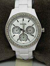 Fossil W/ Michael Kors Band ES1967 Women's Resin Analog White Dial Watch W238