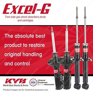 Front + Rear KYB EXCEL-G Shock Absorbers for PROTON Satria C90 S4PH 1.6 I4 FWD