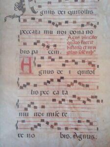 Antiphonale, Latin manuscript on vellum Italy, ca 1450 A.D.