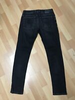 WORN LOOK MENS Diesel TROXER Stretch Denim R9F66 BLACK Slim W30 L30 H5.5 RRP£150