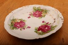 "Decorative Plate With Three Purple Flowers 8 1/4"""
