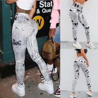 Women's High Waist Print YOGA Gym Sports Leggings Fitness Pant Workout Trousers