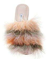 NEW Manolo Blahnik PELOSUS PELOSUSFE Flats Slides Mules Feather Shoes 38