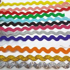 Ric Rac Ribbon Braid Trimming Ricrac Metre Choice of Colours Sewing Trim 5mm