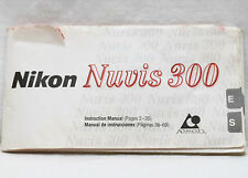 Nikon Nuvis 300 P&S 35mm Film Camera Manual Guide Instructions Book