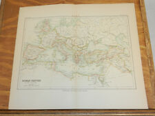 1885 Antique COLOR Map/ROMAN EMPIRE