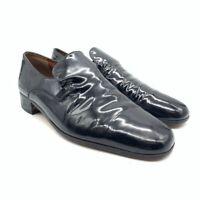 Bally Tivoli Mens Loafers Black Snip Toe Low Top Slip On Dress Shoes 10 M EUR 44