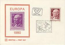 Ersttagsbrief Österreich MiNr. 1652, Europa: Bedeutende Persönlichkeiten