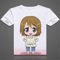 Anime K-ON! Akiyama Mio T-shirt Sweet Girls Casual Short Sleeve Hooded Tee Tops