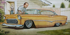 OUT OF PRINT SIGNED KEITH WEESNER POSTER 1955 CHEVY CUSTOM ART LOWRIDER GARAGE