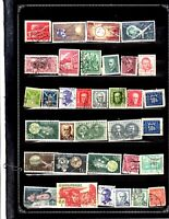 CZECHOSLOVAKIA AST OF 34  ITEMS ALL GENUINE+DIFFERENT VERY NICE LOT #2019CZ02