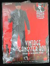 Vintage jefe mafioso Fancy Dress Costume Para Hombre Talla Xl