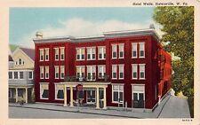 Sistersville West Virginia Hotel Wells ~Knapp'S News Stand Postcard 1953