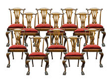 Great set of 12 Chippendale Style Dining Chairs side chairs from 1940's