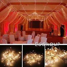 Warm White 10M 100 LED Fairy String Lights Wedding Xmas Party Decor Lamp EU Plug