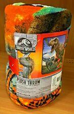 "jurassic Park World Velociraptor T-Rex Dinosaur 48"" X 60"" Throw Blanket"