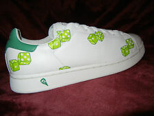 """Reebok Ice Cream """"NO GREED GREEN"""" Dice size 11.5 BBC shoes Dead Stock White"""