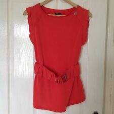 LADIES 'MISS SIXTY' BRAND NEW CORAL PINK SLEEVELESS TOP. SIZE S/ SIZE 10.