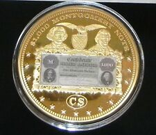 """Big Six Type Banknotes"" Commemorative Gold Layered Piece (110 g) Retail $129.95"