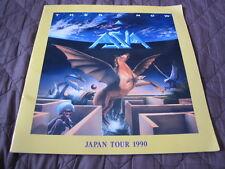 Asia 1990 Japan Tour Book w Japan Ticket Stub Concert Program King Crimson ELP