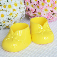 2 Yellow Baby Booties Booty Baby Shower Favor Decoration Candy Favors Dish