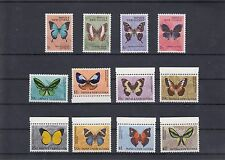 TIMBRE STAMP 12 PAPOUASIE Y&T#83-93 PAPILLON BUTTERFLY NEUF**/MNH-MINT 1966 ~A25