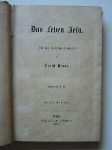 Gebetbuch Renan DAS LEBEN JESU , Glaube / Religion ; Berlin 1864  (#G3#)