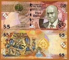 Bahamas, 5 dollars, 2007, Pick 72, F-Prefix, UNC