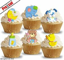 PRE-CUT CUTE BABY TOYS II. EDIBLE WAFER PAPER CUP CAKE TOPPERS PARTY DECORATIONS