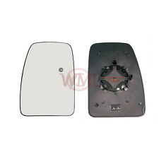 VAUXHALL MOVANO 2011->2017 DOOR MIRROR GLASS SILVER,HEATED & BASE,LEFT SIDE